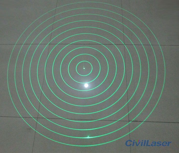 10 concentric circles laser module