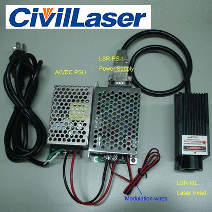 1064nm 100mW~1800mw IR DPSS Laser Invisible laser source with power supply