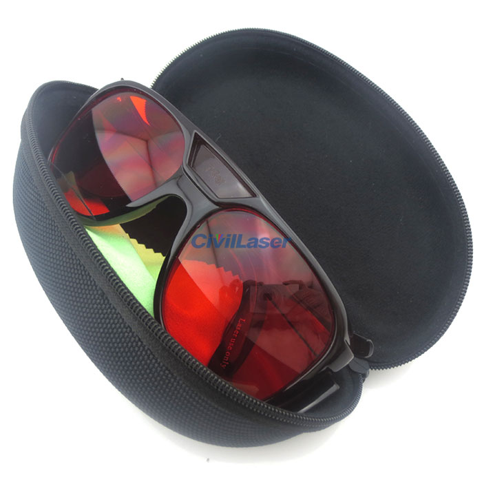 Professional Laser Goggles Glasses For Green and Blue Laser 190-550nm