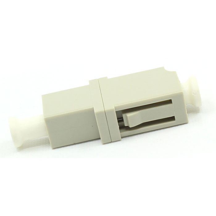 LC Multimode Singal Core Fiber Optic Adapter Beige Plastic Flange Plate