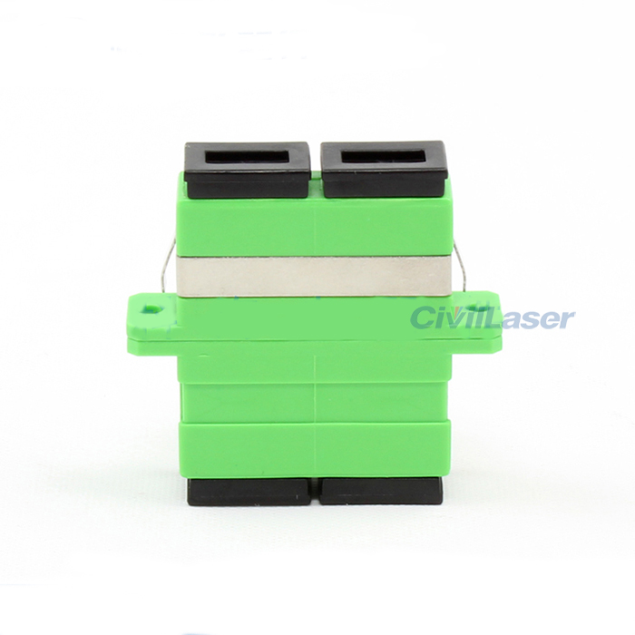 SC Double Core Fiber Optic Adapter APC Fiber Coupler