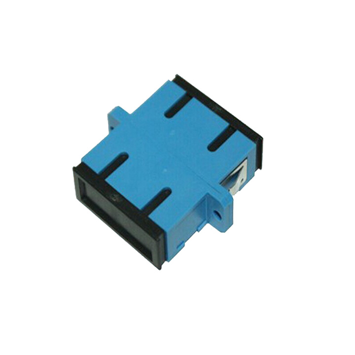 SC Singal Mode Double Core Optical Adapter Blue Plastic Flange Plate
