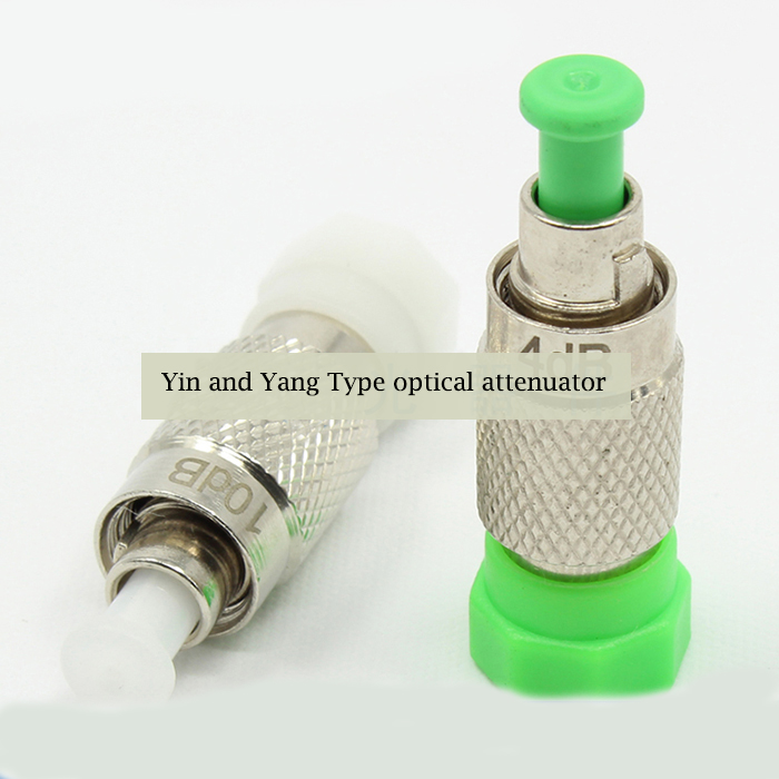 0-30dB FC PC Yin and Yang Type Fixed Optical Attenuator 1250nm to 1650nm