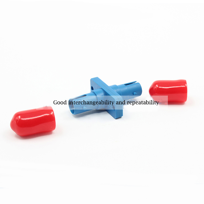 Single Mode Singal Core Plastic Flange Plate ST Fiber Optic Adapter