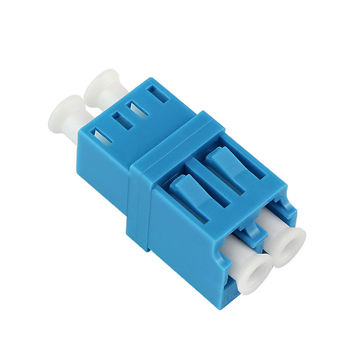 Integrated Type Singal Mode Double Core LC Fiber Optic Adapter