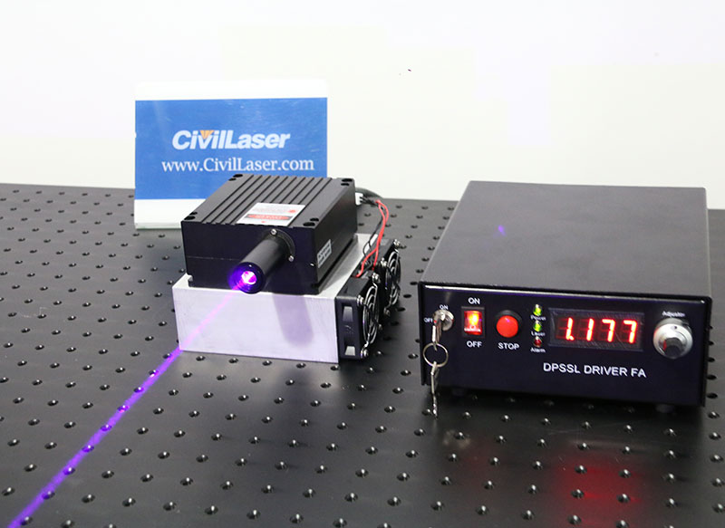 405nm 5W Blue-Violet Semiconductor laser Lab research laser system