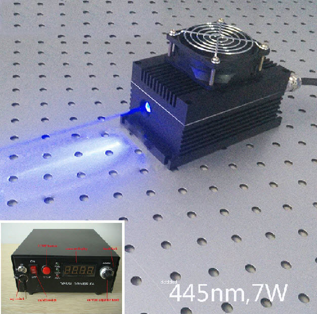 445nm 5W~7W Blue DPSS Laser with power driver (From CivilLaser)