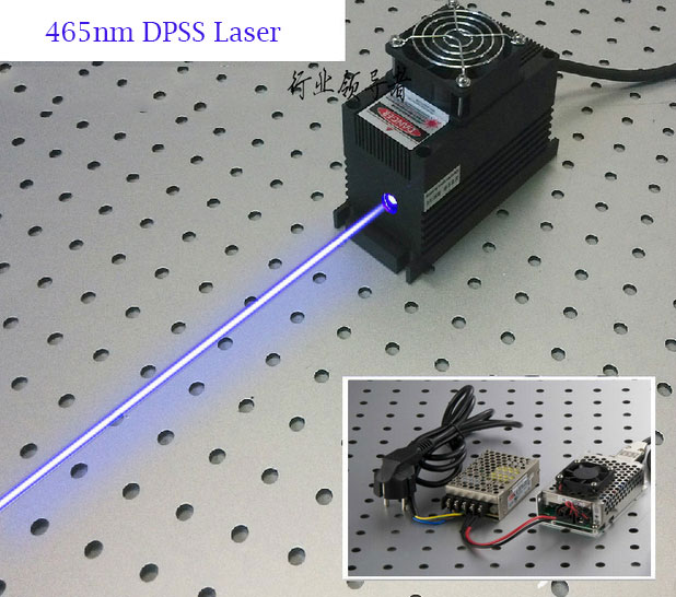 465nm 2W/2.5W Blue DPSS Laser with power driver (From CivilLaser)