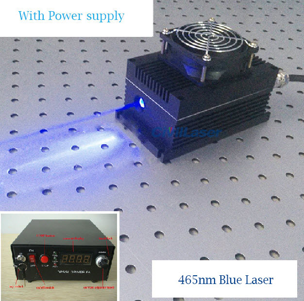 465nm 26W High power blue laser high power semiconductor laser system