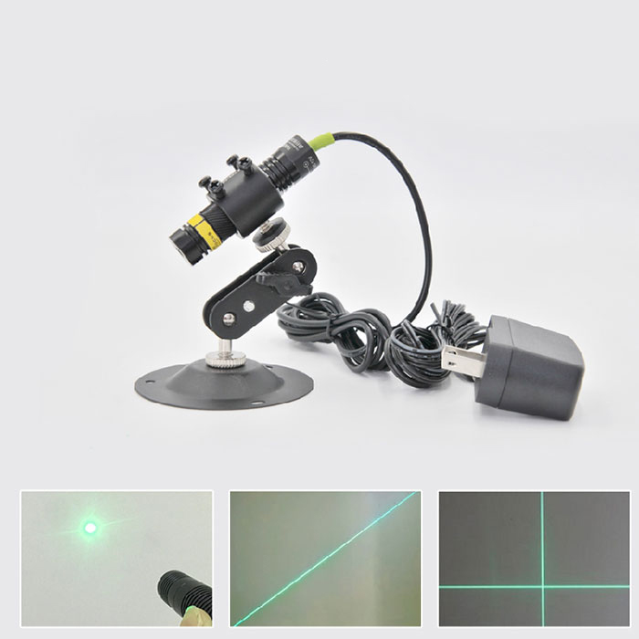 515nm 10mW 30mW Laser Module Dot Line Crosshair Green Laser Focus Adjustable