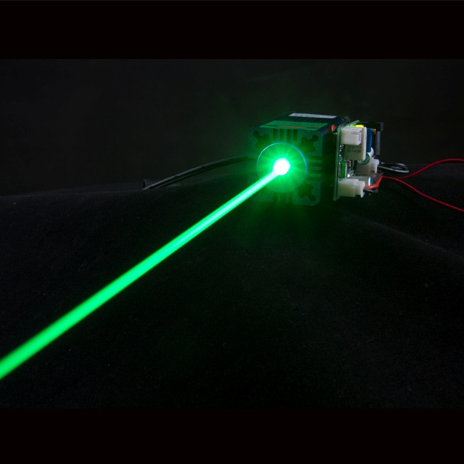 520nm 100mw 150mw 1000mw grass green laser module -- long time continuous working