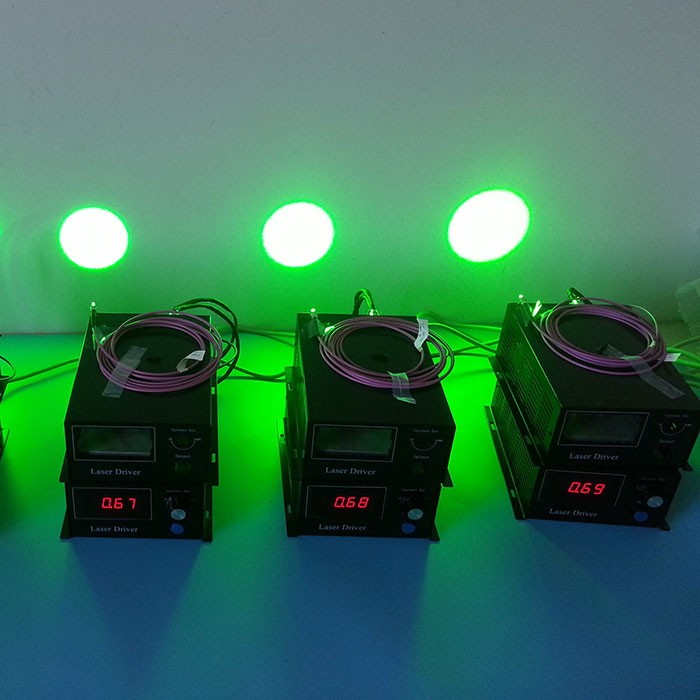 520nm 532nm 1~100W Green Fiber Coupled Laser System PC Control Customized Laser