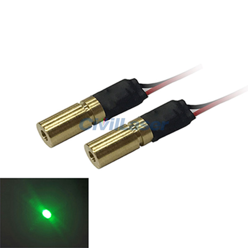 520nm 1mw 5mw Dot Green laser module high Stable 6MM size