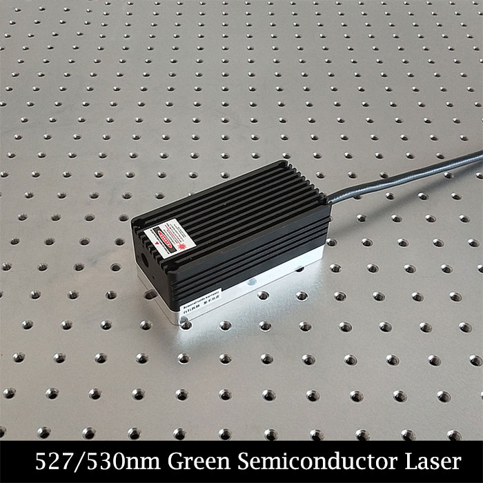 527nm 530nm Semiconductor Laser 2000mW Green Laser Beam Can Coupled Fiber