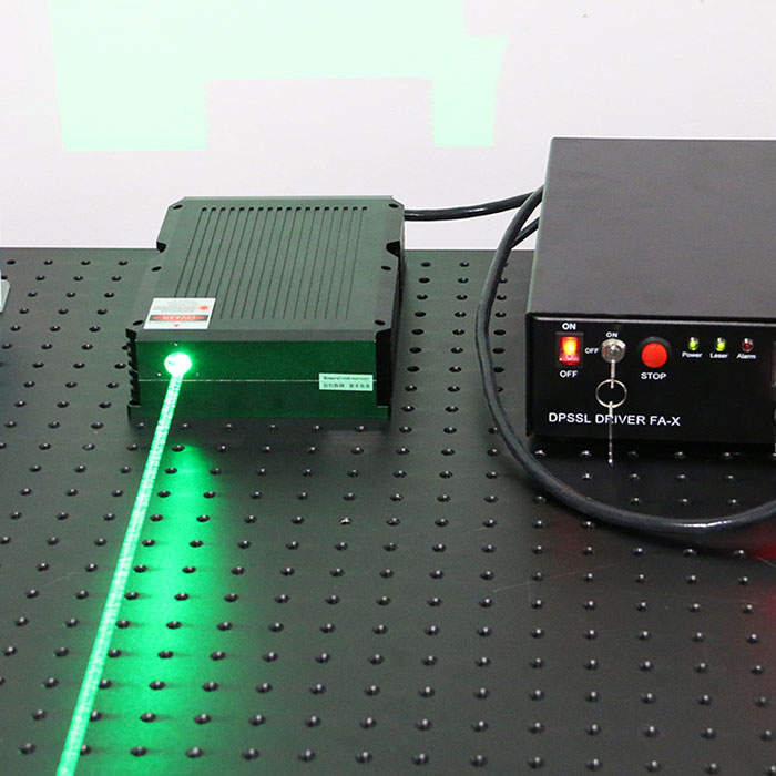 520nm 8W Powerful Semiconductor Laser Green Laser Beam