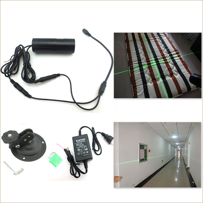 532nm 10mw Line Cross 2IN1 Green Adjustable Laser Positioning Lamp Laser Module