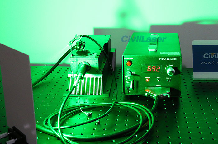 515nm/520nm 10W Fiber Coupled Laser High Power Laser Strong Green Laser Beam