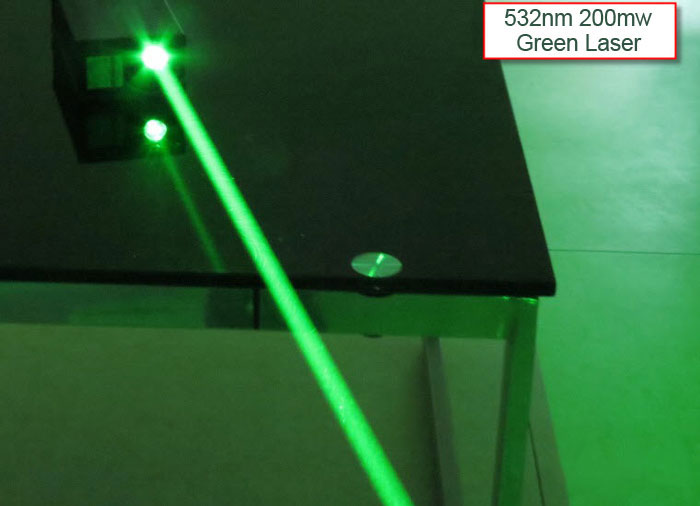 532NM 200mW TTL Green laser module / Thick laser beam / Bright laser light beam expander / Parallel light