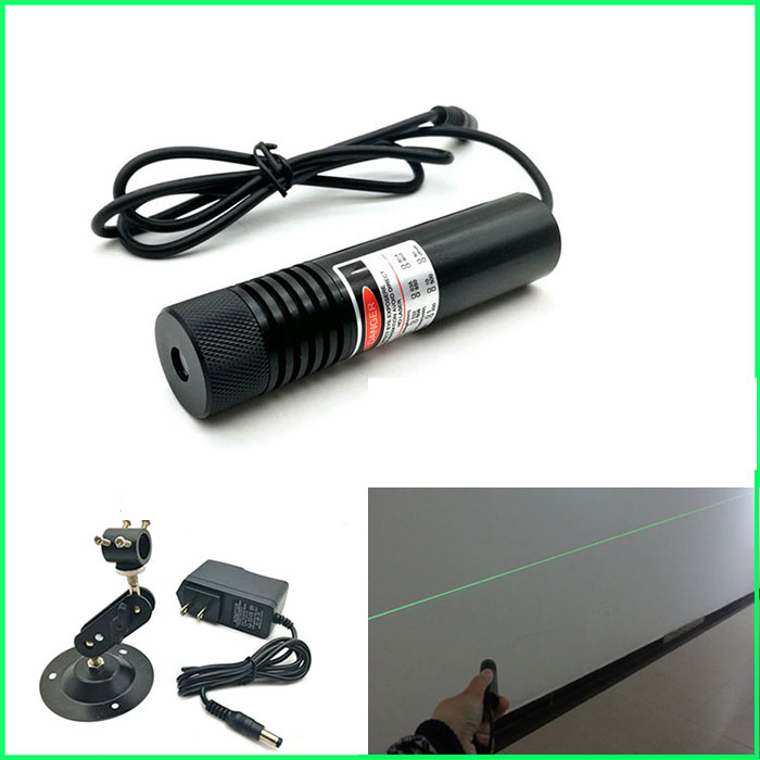 532nm 30mw Green Laser Module Line With power supply laser module holder Line Positioning Lamp