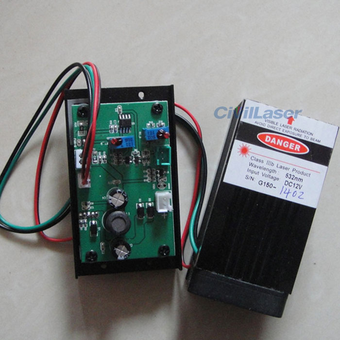 532nm 50mw-150mw TTL Modulation Green Laser Module Dot