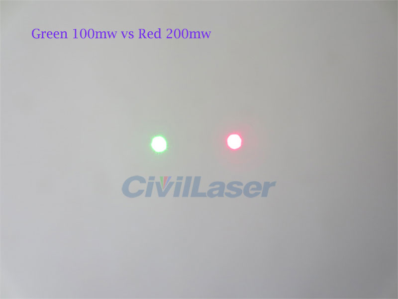 532nm 100mw High stability green dot laser Indoor and outdoor Use