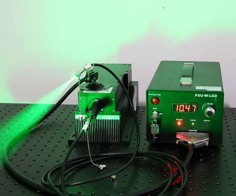 532nm 4W 5W High Power Green Fiber Coupled Laser with power supply