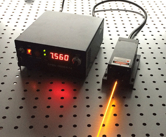 589nm dpss laser output power 200~250mw adjustable Yellow light source for scientific research
