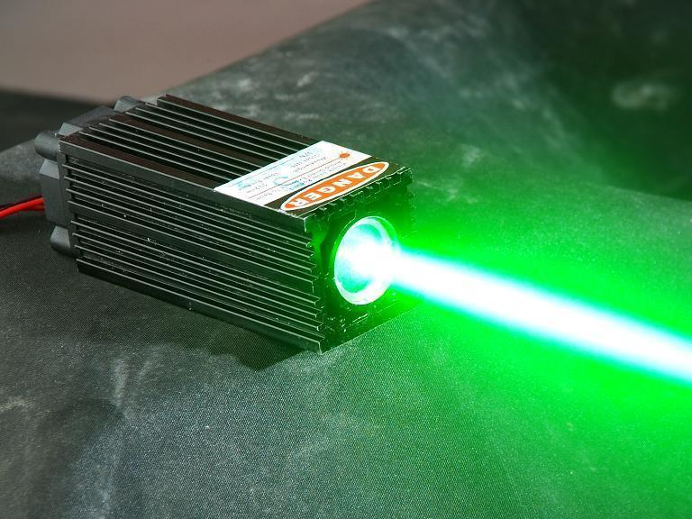 532nm 60mW Green Laser Module thick laser beam with ttl modulation