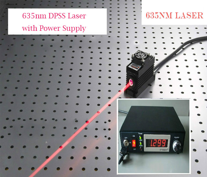 635nm 400mw/500mw/600mw Red Semiconductor laser with power supply and power adjustable