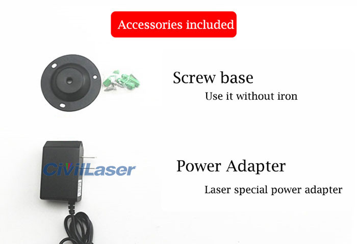 650nm dot line cross laser module