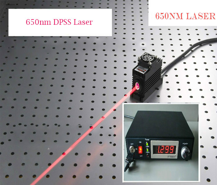 650nm/655nm/660nm 1400mw 1.4W Red Semiconductor laser with Lab Adjustable type power supply