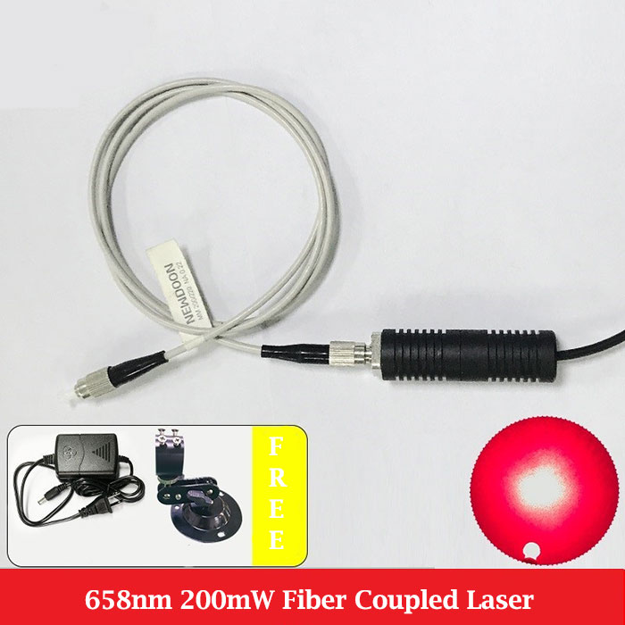 658nm 200mW Pigtailed Laser Red Laser Diode Fiber Coupler