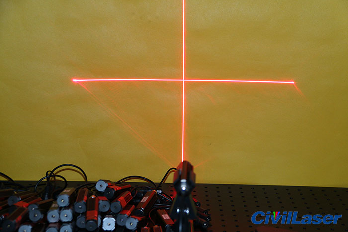660nm red crosshair laser module