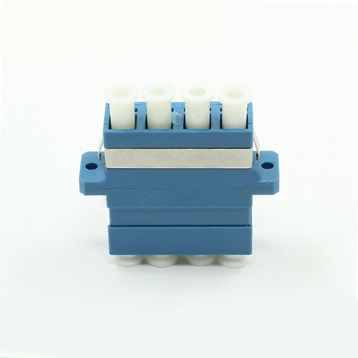 LC Singal Mode Four Core Blue Plastic Fiber Optic Adapter