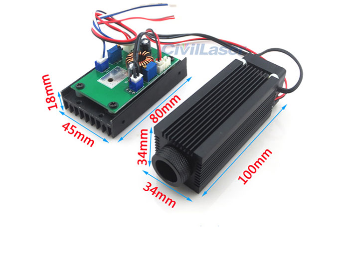 808nm 0.5w-5w Infrared Night Vision Laser Lighting Lamp Powerful Invisible Laser Module