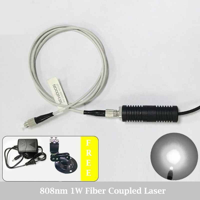 980nm 1000mW IR Laser Beam High Power Fiber Coupled Laser Module With Power Supply