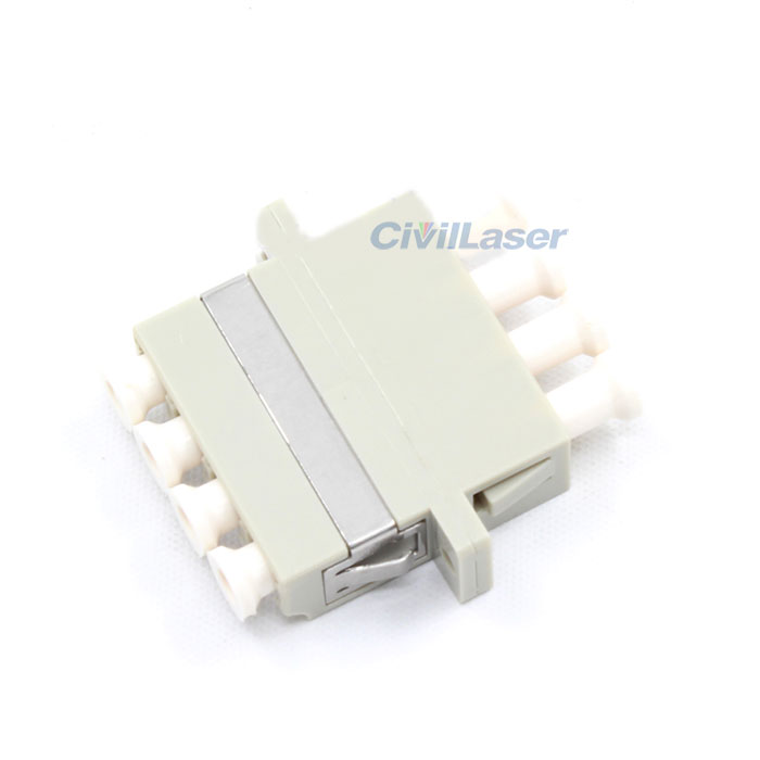 LC Multimode Four Core Plastic Fiber Optic Adapter