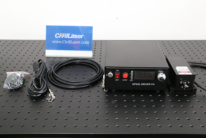 355nm 10mW DPSS Fiber Coupled Laser Ultra-Violet Pulsed laser Source