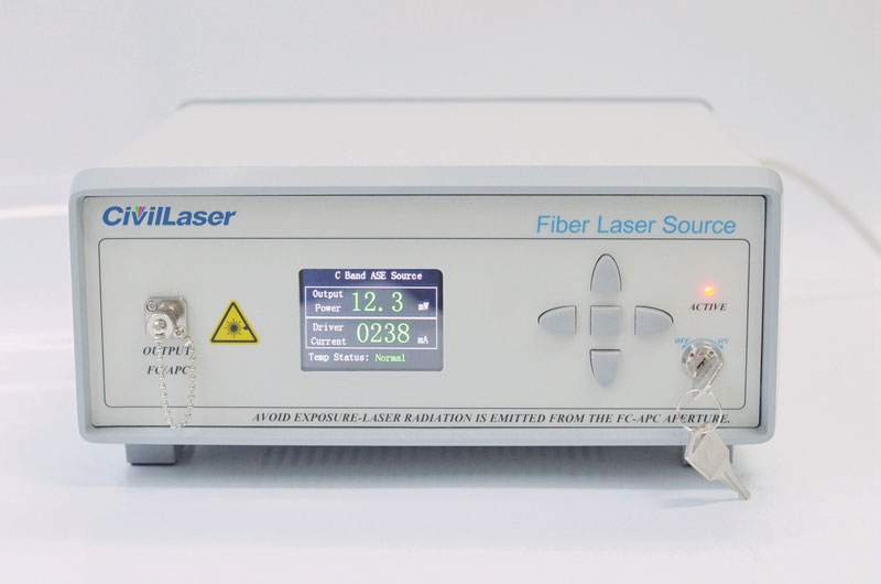 ASE broadband light source 1528nm~1563nm C-Band 10mW~100mW fiber laser Advanced Desktop type