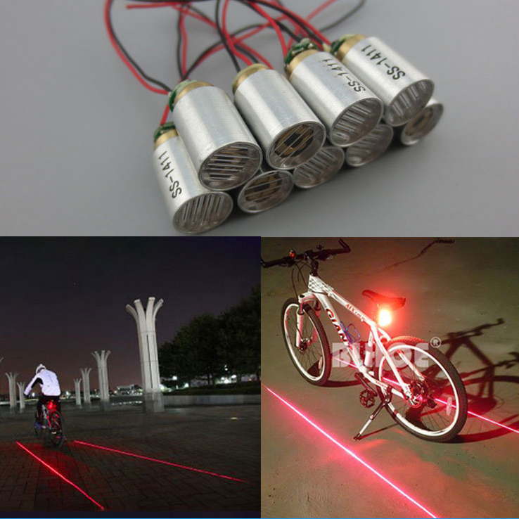 660nm 100mw Bicycle tail light Special Line shape laser module Support customization
