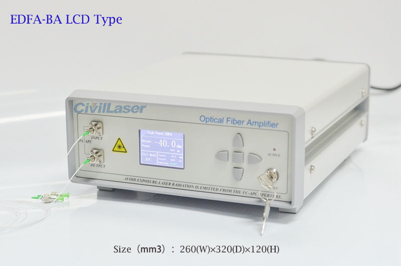 Erbium doped fiber amplifier 30mW~400mW EDFA Booster Amplifier Advanced LCD type