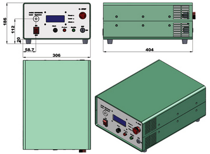 Fiber Coupled 808nm Laser Source 30W high power