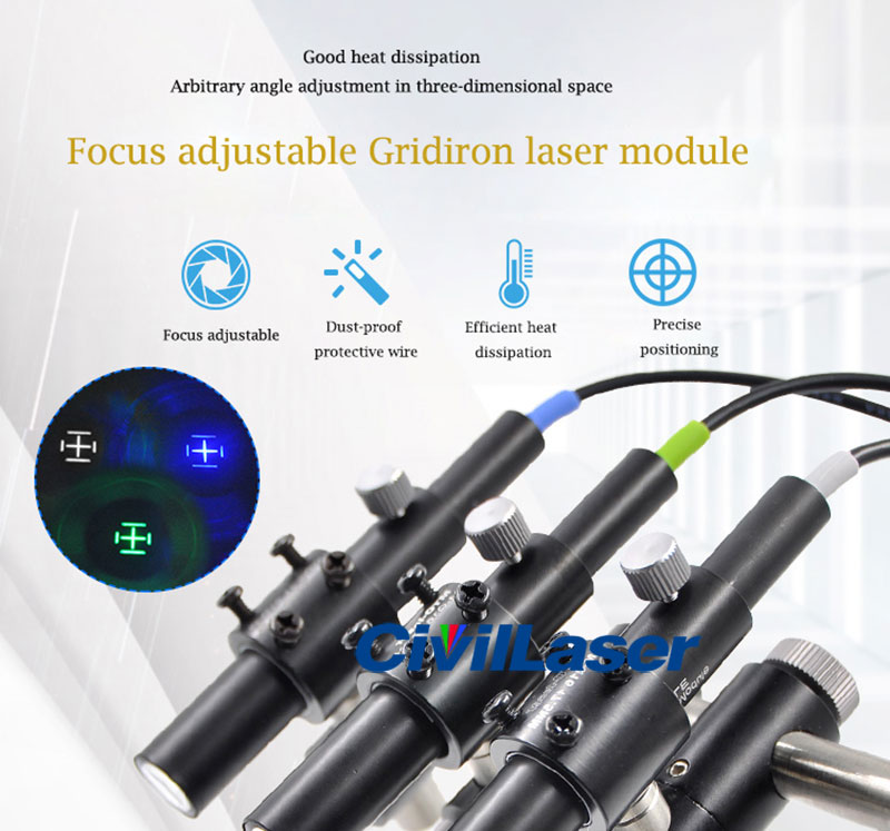 Four grids laser module Green/Blue/White Special Purpose for Machinery Factory