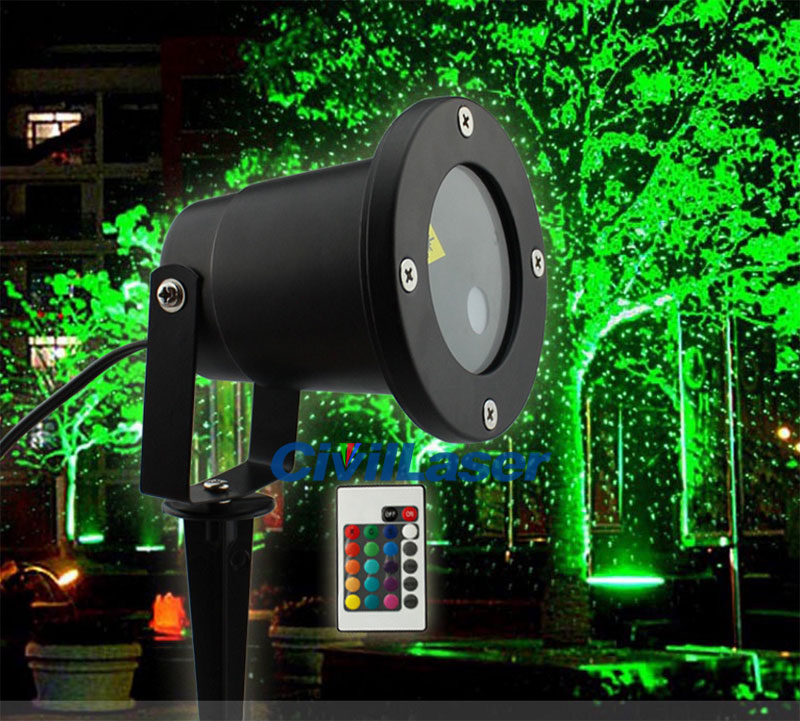 Outdoor dynamic lawn lamp Red Green Stars Landscape garden Waterproof laser lamp