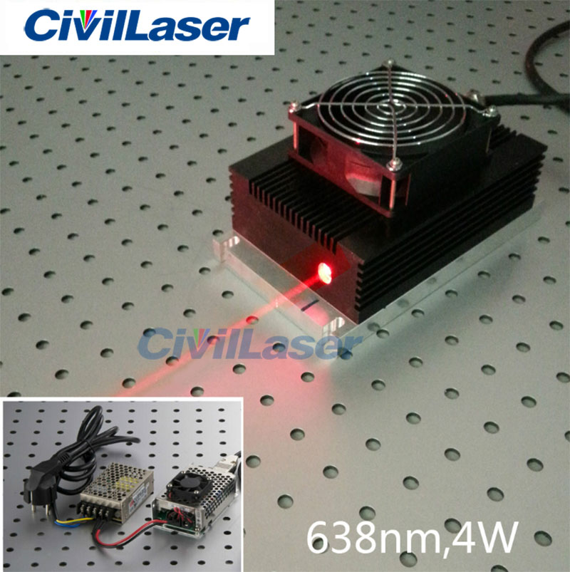 High power red laser 635nm 3W~6W Semiconductor laser output power adjustable