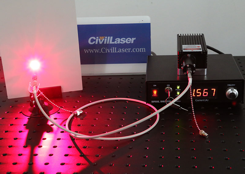 671nm 100mW~1000mW Red Fiber coupled laser with power supply