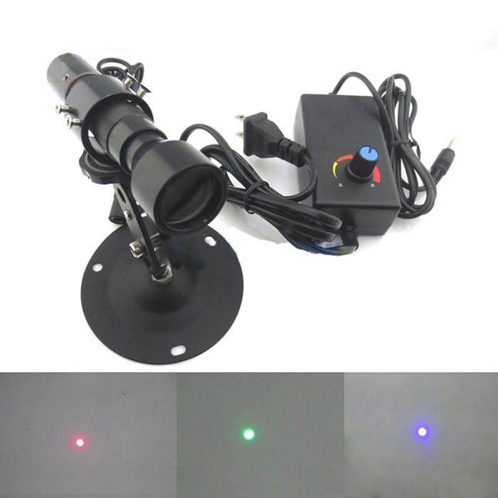 Long range ultra small spot size Red/Green/Blue laser 0~100m use Perfect Circular laser module