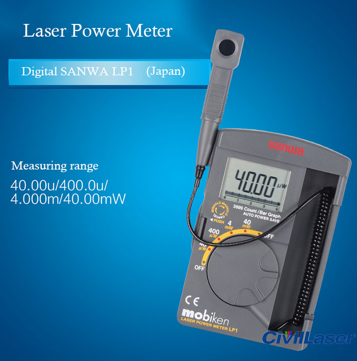 Digital SANWA LP1 Laser Power Meter Pocket optical sensor 400nm~1100nm 0.01uW~39.99mW