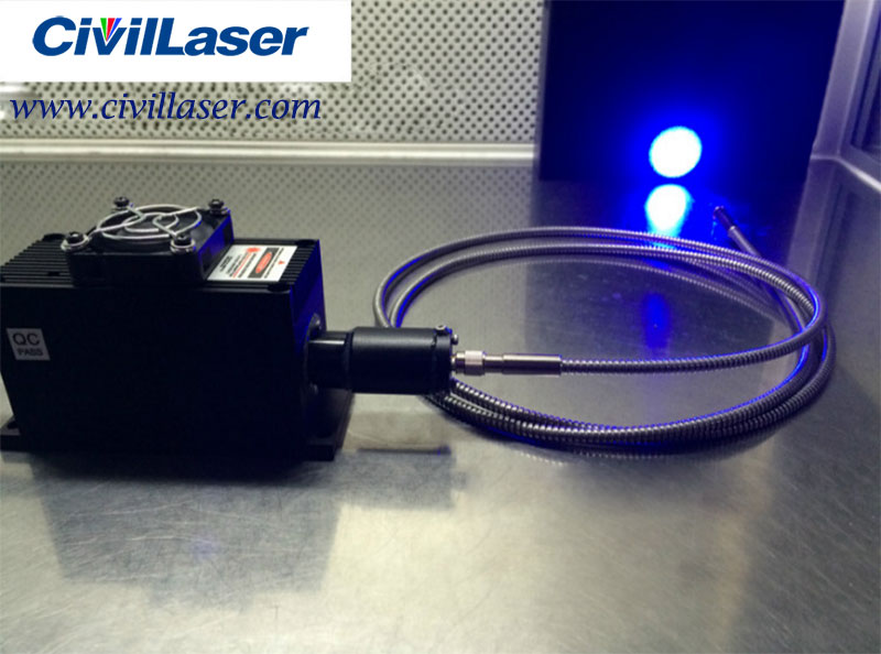 465nm 9W Blue Fiber coupled laser with power supply