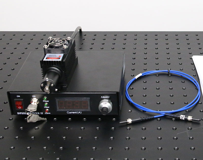 1342nm 100mW~500mW DPSS Fiber Coupled Invisible Laser Beam with Power Supply